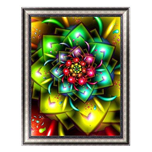 TiTCool 5D Diamond Painting Kit, Floral Kaleidoscope Drill Rhinestone Pasted Craft DIY Home Decorative (D) ()