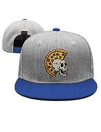 YHNBHI mr Pizza The Slice Skulls Unisex Hip-Hop Adjustable Peaked Cap Best Baseball Hats