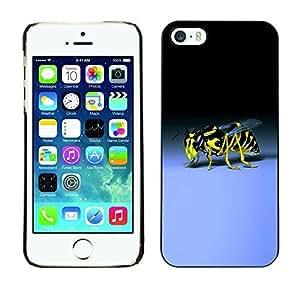 Boast Diy BLOKK case cover / Apple Iphone 5 / 5S / wasp bee sting yellow black blue bug / Slim Black Plastic case cover D93kFkDQ8SO case cover Armor