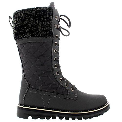 Polar Winter Calf Boot Grey Snow Warm Outdoor Waterproof Durable Thermal Mid Womens rFSOr