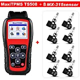 Autel MaxiTPMS TS508 TPMS Service Tool Activate Tire Pressure Sensor Program ECU with 8pc 315MHz Programmable Sensors