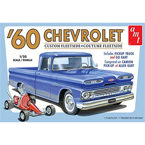 AMT AMT1063M 1/25 1960 Chevy Fleetside Pickup w/Go Kart 2T from AMT