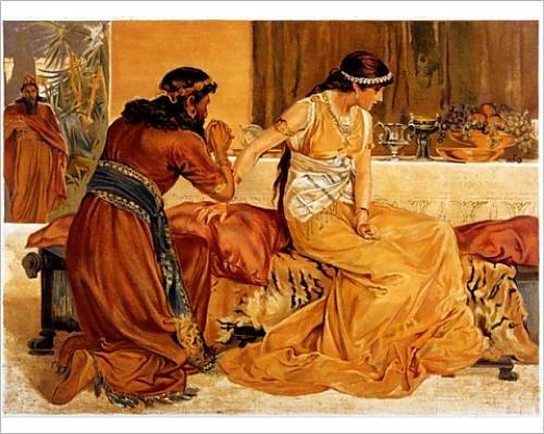 Photographic Print Of Esther a Haman (Bible)
