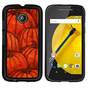Stuss Case / Funda Carcasa protectora - Otoño de Halloween naranja otoño - Motorola Moto E2 E2nd Gen