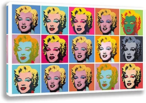 Orlco Art Marilyn Monroe Colorful Canvas Painting Poster Print Famous Andy Warhol Wall Art Picture