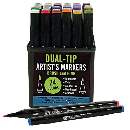 Studio Series Professional Alcohol Color Markers - Dual Tip - 24 (Artist Tips)