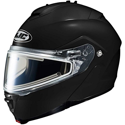 HJC Solid With Electric Lens Adult IS-Max 2 Snocross Snowmobile Helmet - Black / 5X-Large
