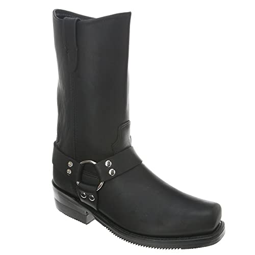 Amazon.com | Double H 4008 10 Inch Harness Boot - Black | Boots