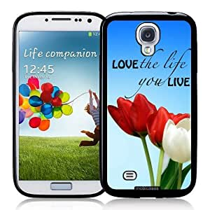 Cool Painting Hipster Quote - Love The Life You Live - Protective Designer BLACK Case - Fits Samsung Galaxy S4 i9500