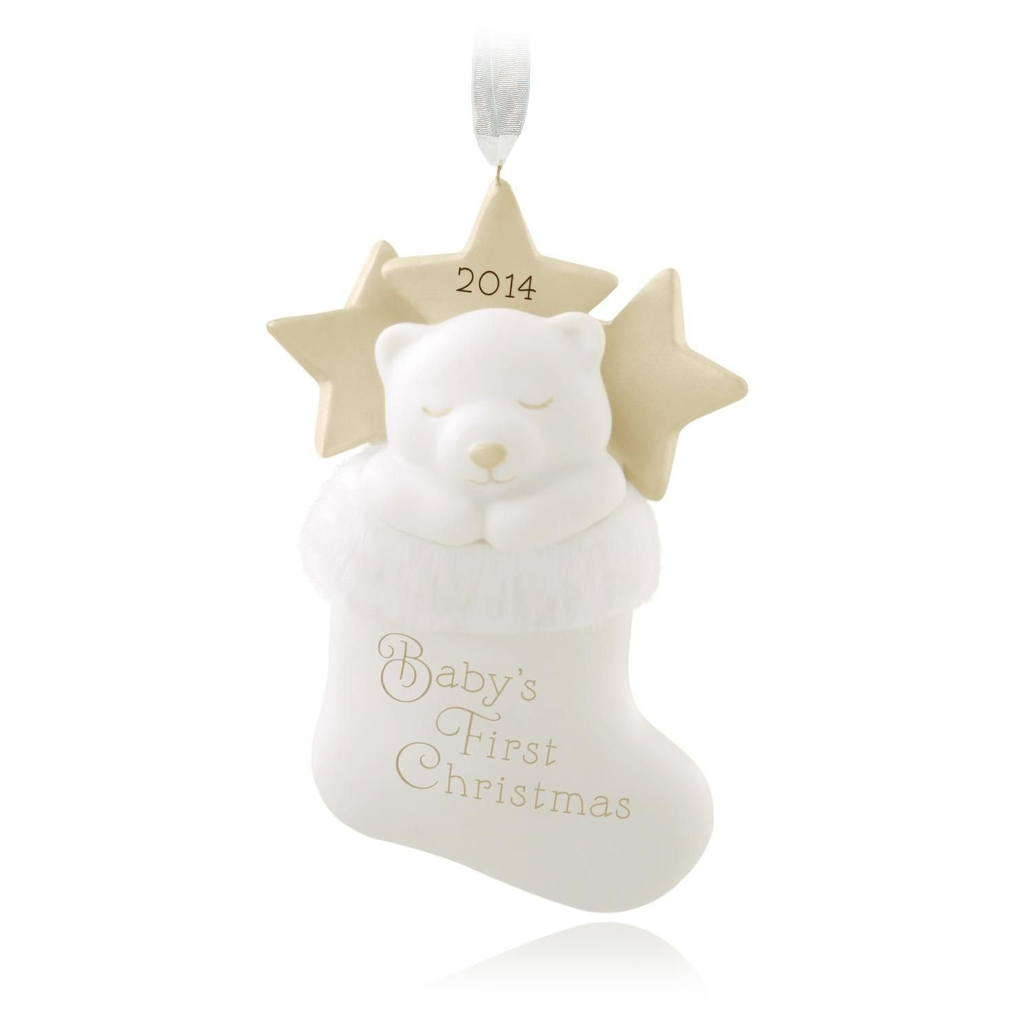 Amazon: Hallmark 2014 Baby's First Christmas Stocking Holiday Keepsake  Ornament: Home & Kitchen