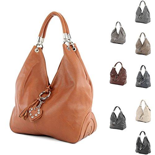 shoulder 330A Kastanie bag leather Nappaleder bag women's bag bag handbag Italian Yxq1C8x