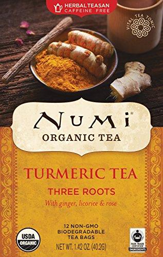 Price comparison product image Numi Organic Tea Turmeric Tea,  Three Roots, 12 Bag(S), 1.42 OZ(40.2G)