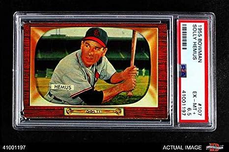 Amazoncom 1955 Bowman 107 Solly Hemus St Louis Cardinals