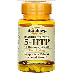 5-HTP (200 Mg) Capsules, 120 Count (IN 4 BOTTLES)