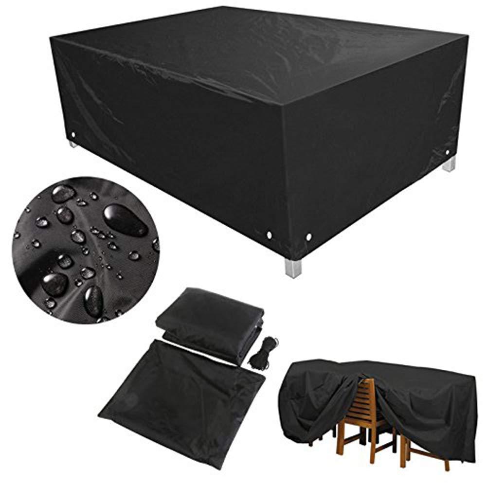 ダストカバー - ガーデン家具カバーターポリン防塵ガーデンシェイプサンシェード防風210Dオックスフォード布(8サイズ) (サイズ さいず : 250x250x90cm) 250x250x90cm  B07L3ST28W