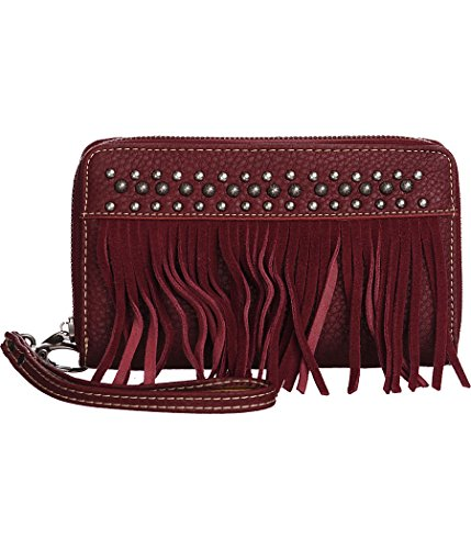 trinity-ranch-studded-fringed-burgundy-wristlet-wallet