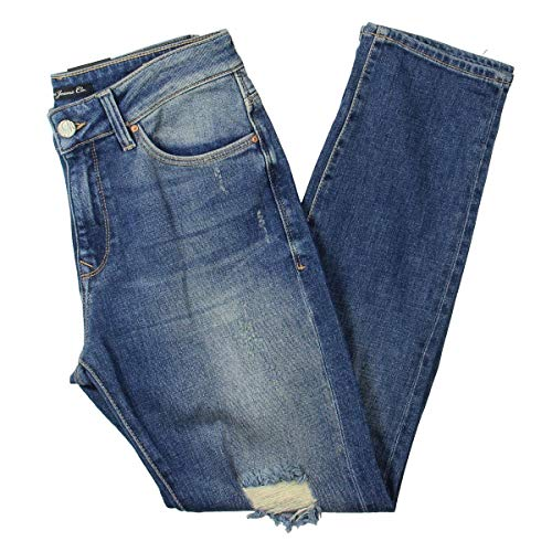 In Mavi Jeans Worn (Mavi Women's Brenda HIGH Rise Authentic Boyfriend, Blue, 25)