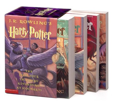 Harry Potter Paperback Boxed Set Books 1 4 J K Rowling Mary