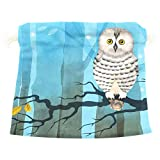 Dragon Sword Polar Owl On The Branch Gift Bags Jewelry Drawstring Pouches for Wedding Party, 6x8 Inch
