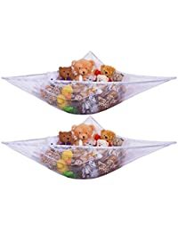 Jumbo Toy Hammock -2PACK- Organize stuffed animals or children's toys with this mesh hammock. Looks great with any décor while neatly organizing kid's toys and stuffed animals. Expands to 5.5 feet. BOBEBE Online Baby Store From New York to Miami and Los Angeles