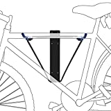 Relaxdays Wall-Mount Foldable Bicycle Holder, Supports Up to 50 kg, Bike Rack for Indoor Storage, 43.5 x 34 x 67 cm, Black/Blue