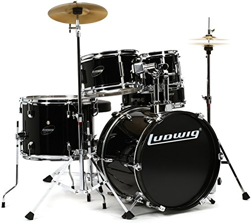 Ludwig Junior Drum Kit, Black (LJR1061)