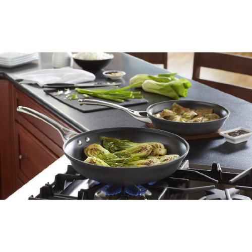 Calphalon Contemporary Hard-Anodized Aluminum Nonstick Cookware, Omelette Pan, 10-inch and 12-inch Set,...