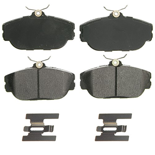 (Wagner QuickStop ZX601 Semi-Metallic Disc Pad Set Includes Pad Installation Hardware, Front)