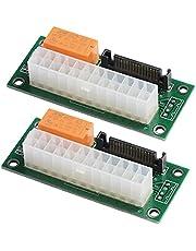 MZHOU Dual Multi Power Supply Add2psu Adapter voor de Bitcoin Mining Powered Adapter Card - ATX 24-Pins naar Molex 4-Pins (2 Stuks)