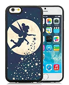 iPhone 6/6S TPU Case ,Newest And Beautiful Designed Case With Forever Young Tinkerbell Black iPhone 6/6S Screen Case Good Quality Designed Phone Case