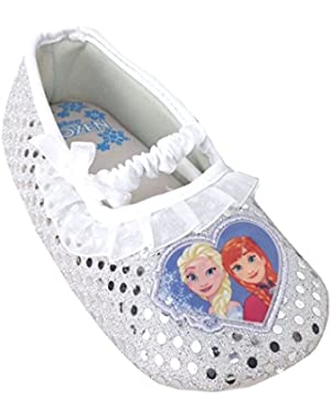 Frozen Elsa and Anna Little Girls Toddler Ballet style Slippers