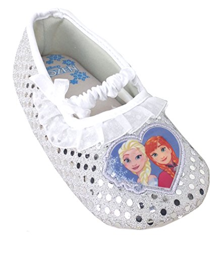 Disney Frozen Slippers (Disney Frozen Elsa and Anna Little Girls Toddler Ballet style Slippers (11-12))
