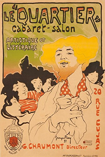 (Le Quartier - Cabaret - Salon Vintage Poster (artist: Fay) France c. 1897 (36x54 Giclee Gallery Print, Wall Decor Travel Poster))