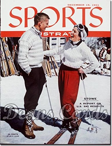 Sports Illustrated - With Label December 19 1955 - Stowe Vermont Ski Resort Skiing (Magazine/Publication) (Has Address Label on Front) Dean's Cards 5 - EX (Ski Magazine Best Resorts)