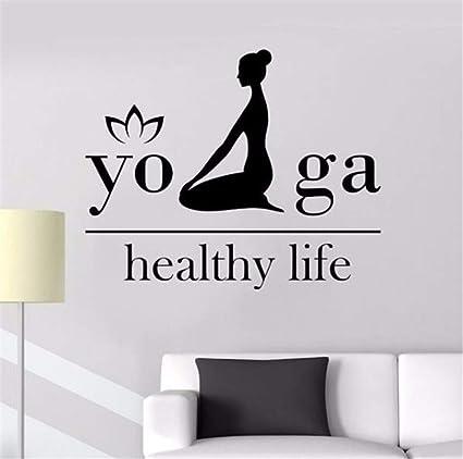 Amazon.com: Wadyx Art Decals Vinyl Wall Decals Yoga Health ...