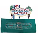 12ft Synthetic Polyester Craps Layout Felt Casino Quality
