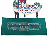 New Generic Synthetic Polyester Felt Casino Style Craps Layout