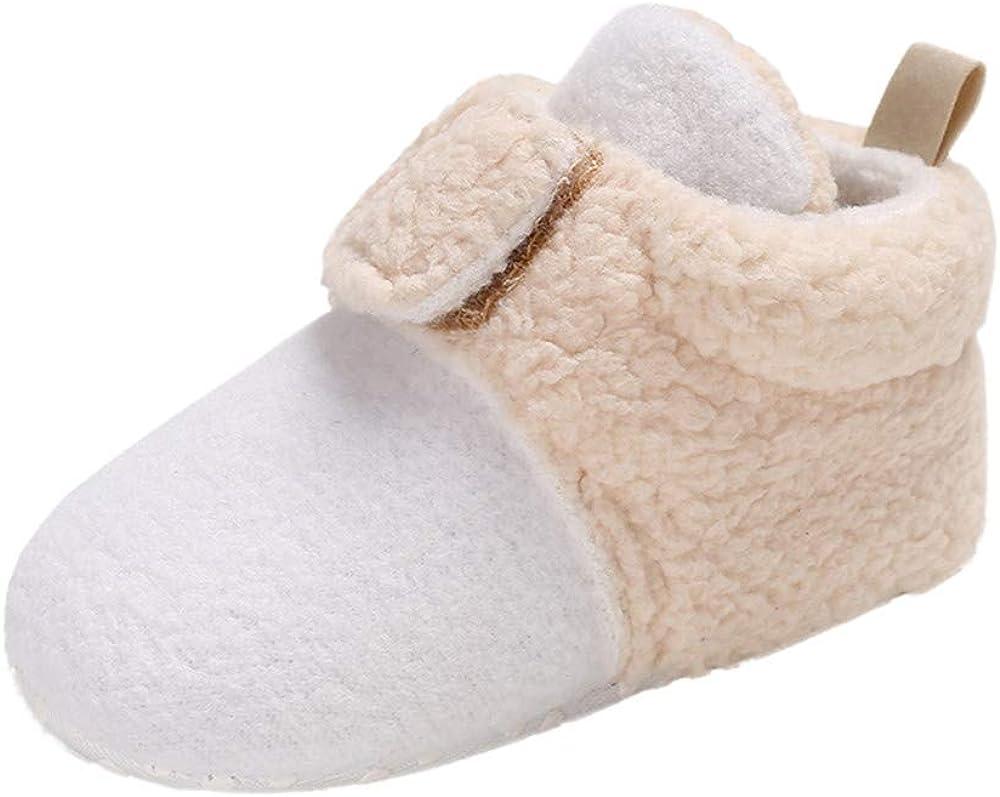 Voberry@ Winter Warm Baby Leopard Boots Splicing Soft Prewalker Newborn Boy Girl Crib Shoes Snow Boots