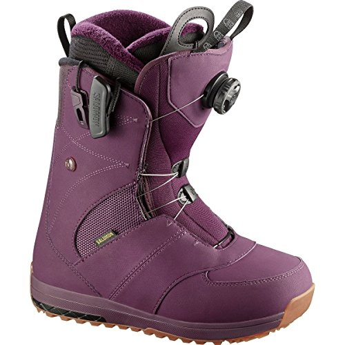 Ivy Snowboard Boot (Salomon Snowboards Ivy Boa Snowboard Boot - Women's Bordeaux, 6.0)