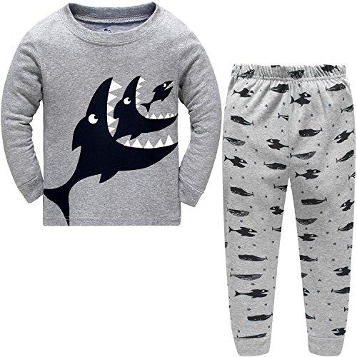 Schmoopy Boys Shark Pajamas Set 2-7 Years
