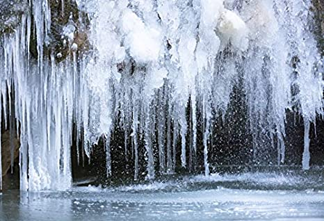 Yeele 9x6ft Winter Icicle Backdrop Glacial Cold Freeze Ice Landscape Background for Photography Natural Scenic Boy