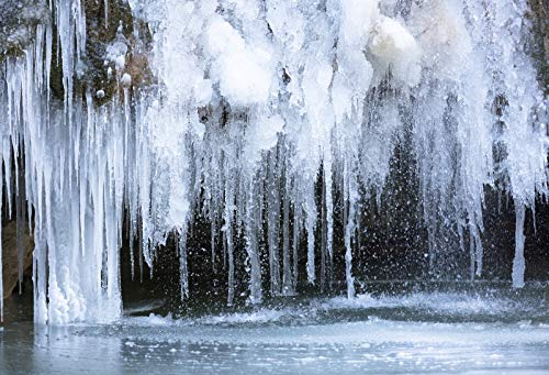- Yeele 7x5ft Winter Icicle Backdrop Glacial Cold Freeze Ice Landscape Background for Photography Natural Scenic Boy Kid Adult Portrait Photo Booth Shoot Studio Props Vinyl Wallpaper