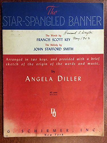 STAR SPANGLED BANNER (1942 version SHEET MUSIC with complete sets of lyrics and four pages with text of history regarding the song and the lyrics) Excellent condition. (Best Version Of Star Spangled Banner)