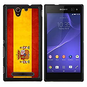"Be-Star Único Patrón Plástico Duro Fundas Cover Cubre Hard Case Cover Para Sony Xperia C3 D2533 / C3 Dual D2502 ( Bandera nacional de la Serie-España"" )"