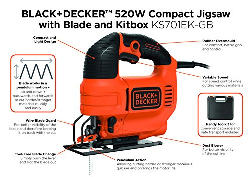Blackdecker ks701ek gb compact jigsaw with blade 520 w amazon blackdecker ks701ek gb compact jigsaw with blade 520 w amazon diy tools keyboard keysfo Gallery