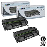 LD Compatible Toner Cartridge Replacements for HP 80A (Black, 2-Pack)