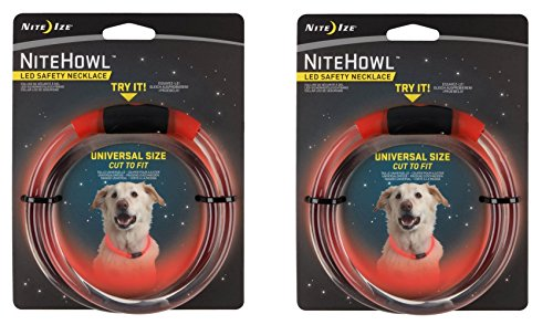 Nite Ize Safety necklace Collar Color:Red Pack of 2