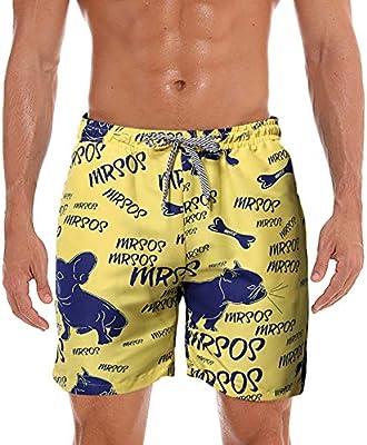 huozhog Pantalones Cortos con Bolsillos Ajustados Hombre ...