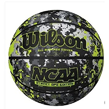Wilson NCAA Calle Ops Camuflaje – Balón de Baloncesto, Color Verde ...