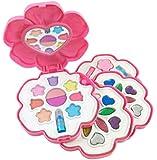 Petite Girls Flower Shaped Cosmetics Play Set - Fashion Makeup Kit for Kids